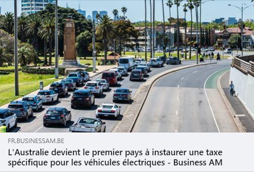 L'Australie instaure une taxe kilométrique pour les véhicules électriques.