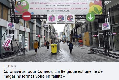 La Belgique ne deviendra une île de magasins en faillite