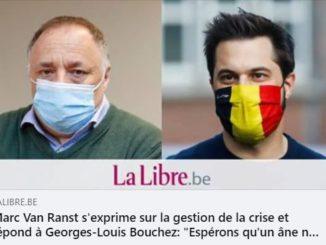 Le virologue Marc Van Ranst soutient notre désastreux Ministre de la Santé, Frank Vandenbrouck