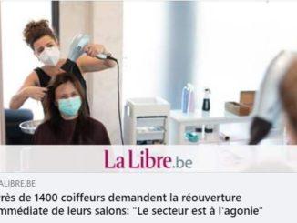 """Les coiffeurs (sans parler du secteur de l'horeca) ne semblent pas encore avoir compris que le """"choc psychologique"""" voulu par notre rigide Ministre de la Santé Frank Vandenbroucke"""