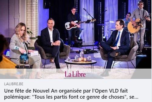 """Faites ce que je dis, pas ce que je fais... => Une fête de Nouvel An organisée par l'Open VLD fait polémique: """"Tous les partis font ce genre de choses"""", se défend Egbert Lachaert."""