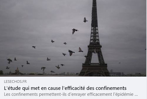 L'étude qui remet en cause la pertinence des confinements.