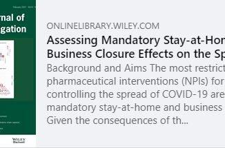 Une récente étude épidémiologique de premier plan aboutit à la conclusion que les mesures restrictives n'ont pas d'impact significatif sur la circulation de la Covid-19